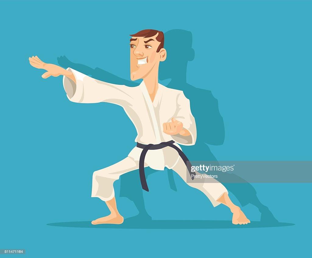 Vector karate flat illustration