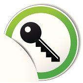 Vector key paper icon