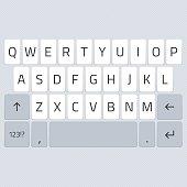 Vector keyboard of smartphone.