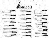 Vector knives set