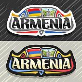 Vector label for Armenia