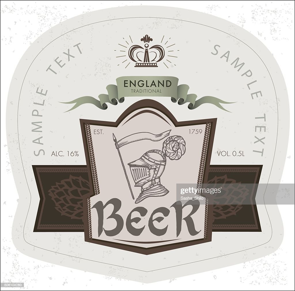 Vector Label for Beer