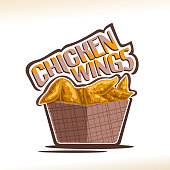 Vector label for Chicken Wings
