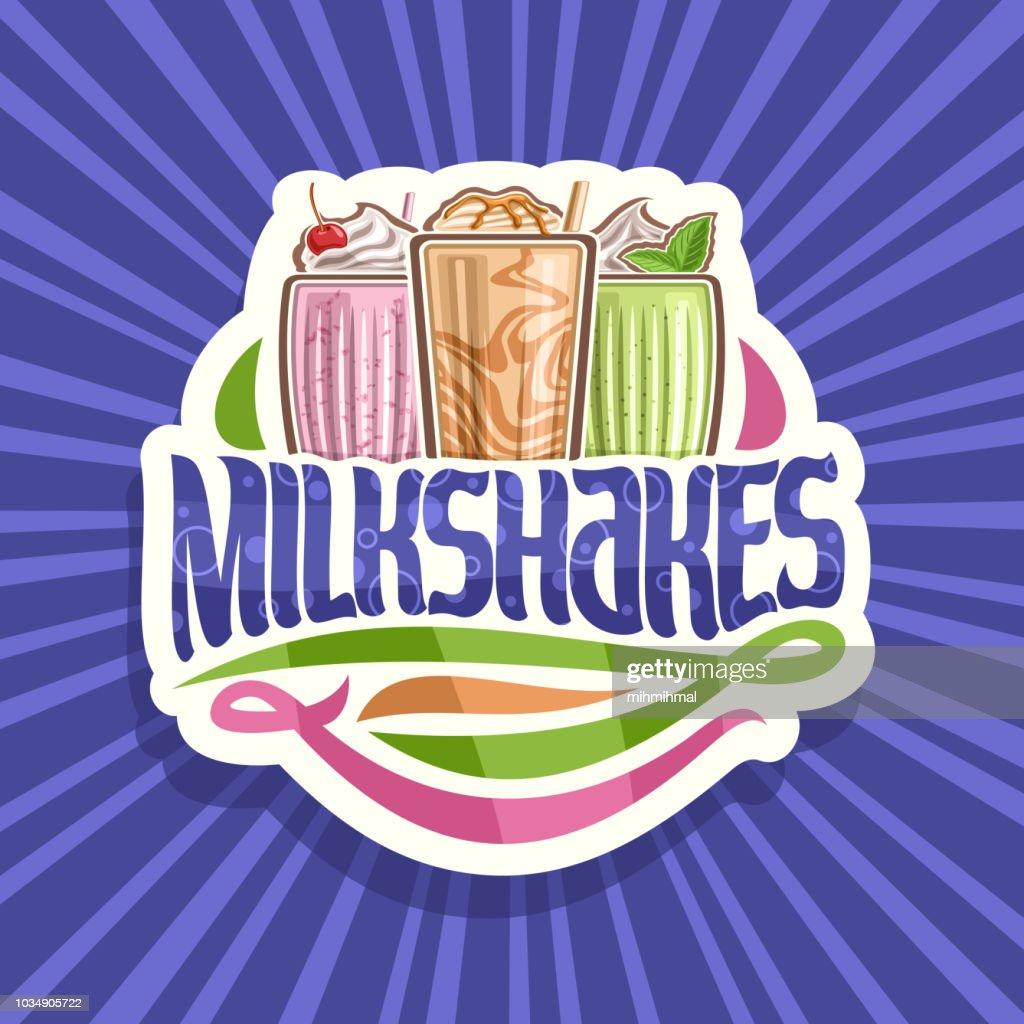 Vector label for Milkshakes