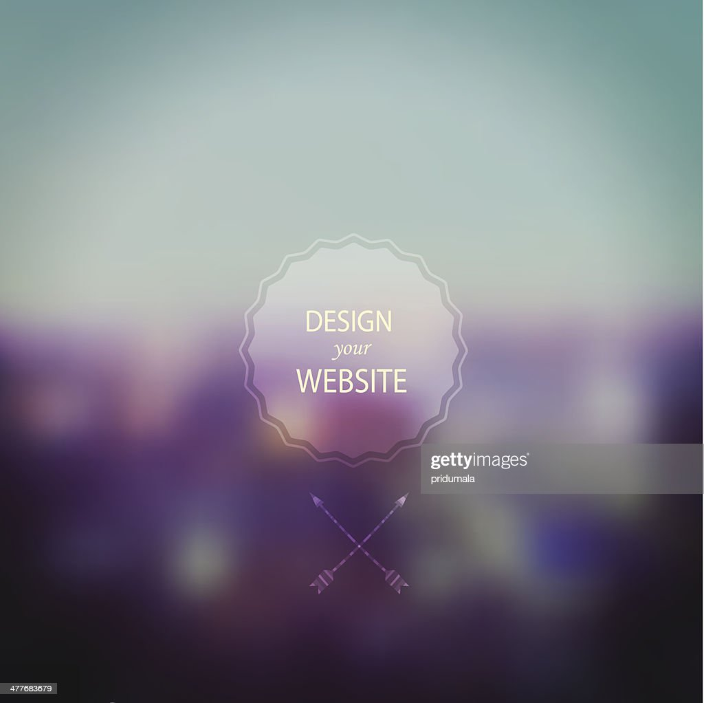 Vector landscape, nature and mobile template. Corporate website