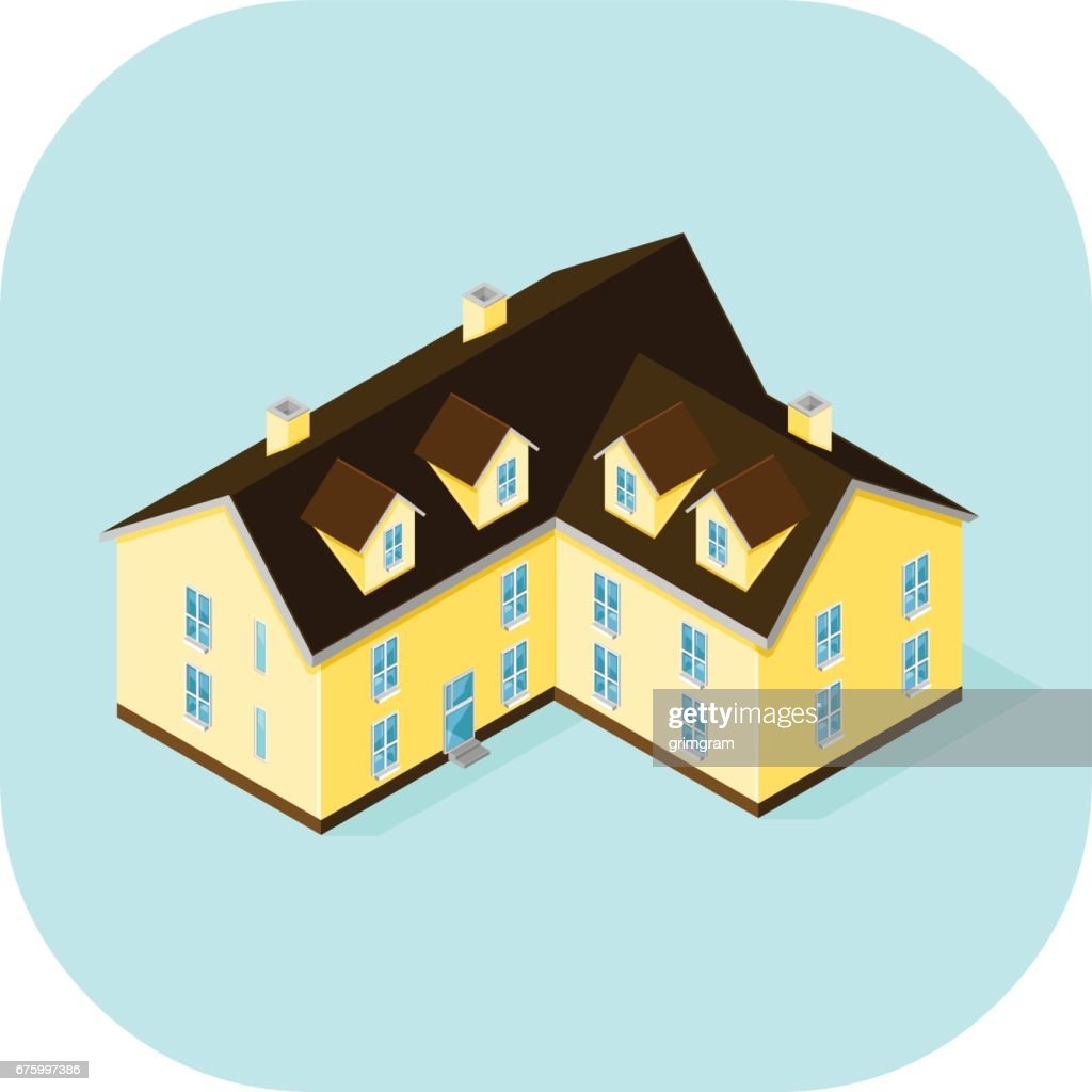 Vector Large Home Icon.