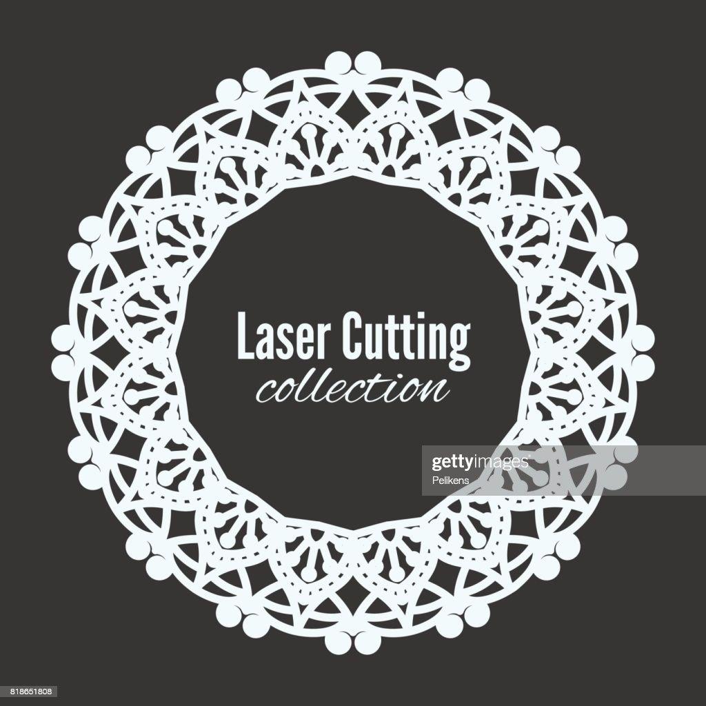vektor laser blume schneiden sie die vorlage rahmen blumen mandala fr den plotter muster fr heimtextilien shop schaufenster wand foto rahmen - Muster Fur Wand