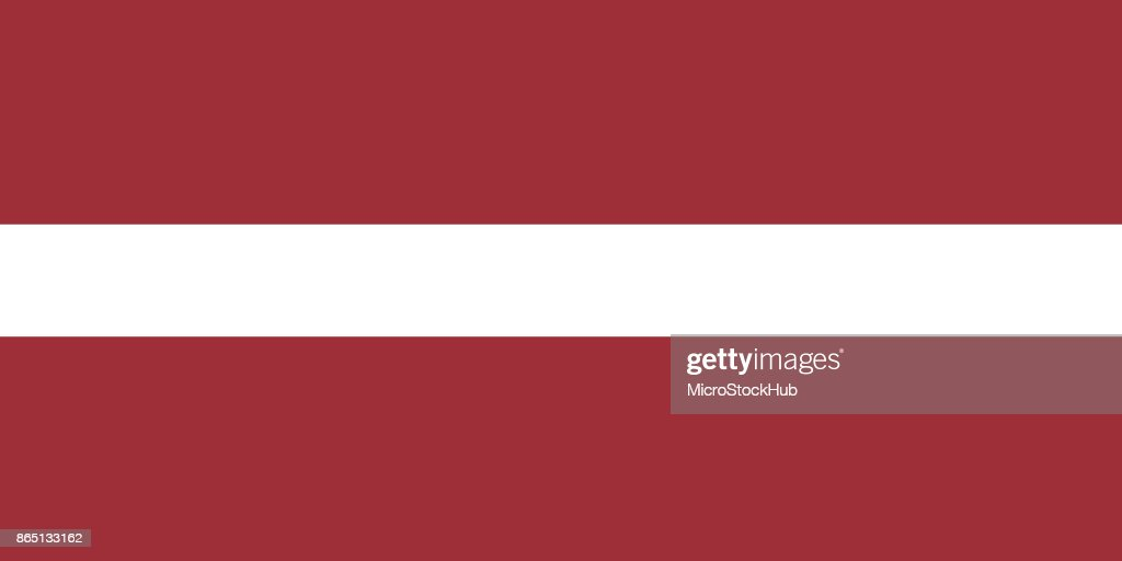 Vector Latvian Flag In Original Ratio and Colors