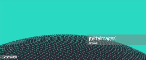 vector layout globe planet earth with a grid, - wire frame model stock illustrations