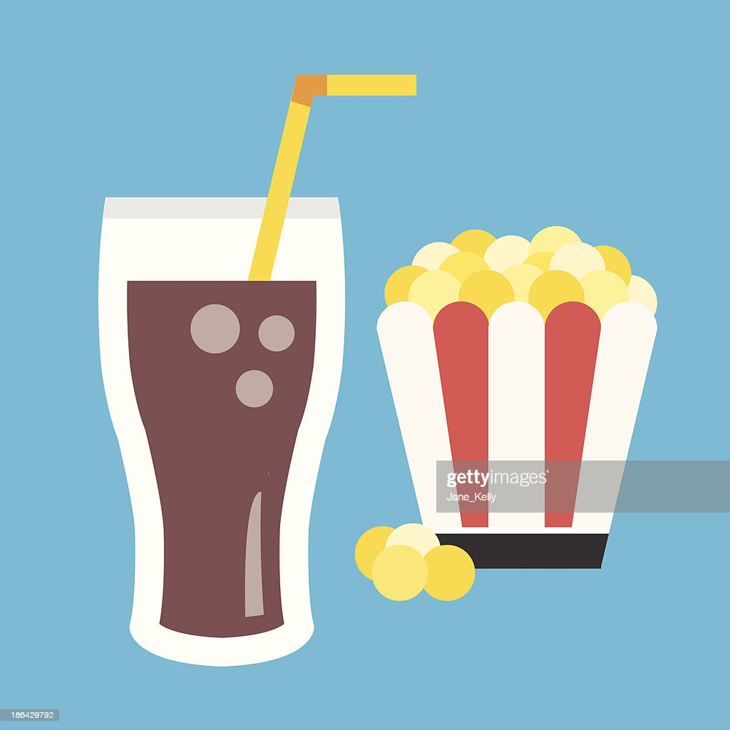 Vector Lemonade and Popcorn Icon
