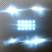 Vector Lens Flare Set. Realistic Vector Flare Glow Effect