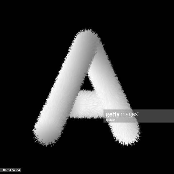 Vector Letter A from fur