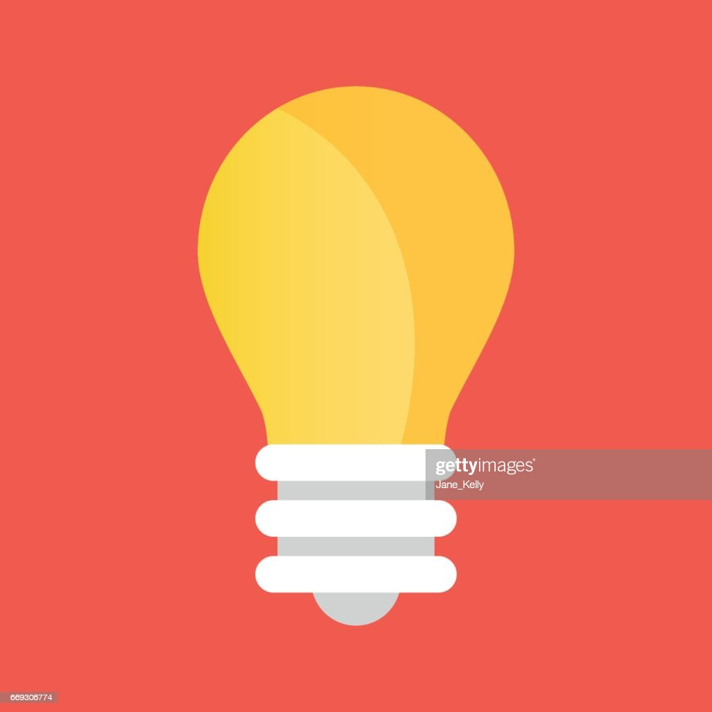 Vector light bulb icon. Lightbulb icon