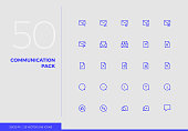 Vector Line Icons Communication Pack