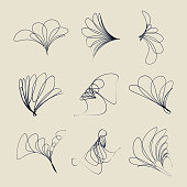Vector line style symbol collection