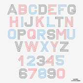 Vector linear font. 80 s retro alphabet font. Simple and minimalist alphabet in mono line style.