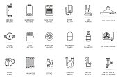 Vector linear icon gas equipment