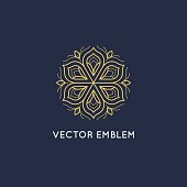 Vector logo design - luxury beauty spa concept