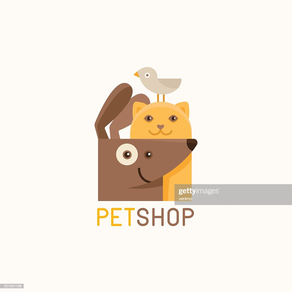 Vector logo design template for pet shops