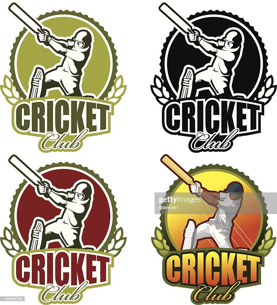 Vector logo for cricket club