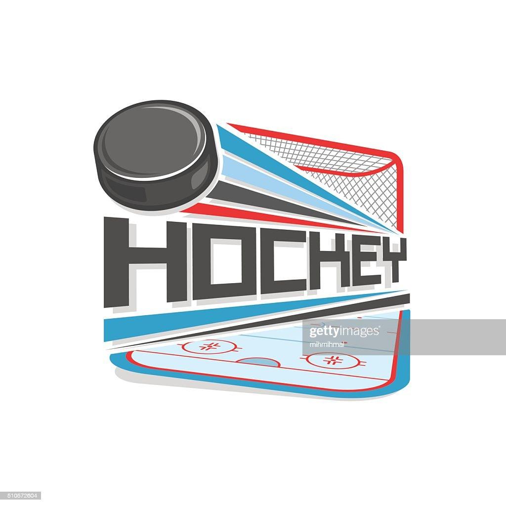 Vector logo for hockey sport
