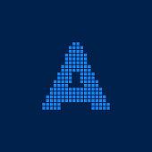 Vector Logo Letter A Small Blocks