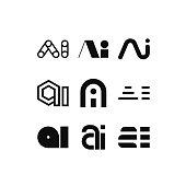 Vector Logo Letter AI