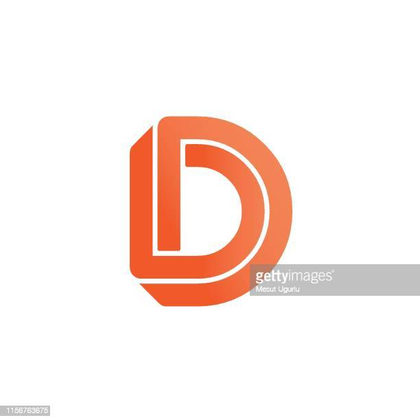 vector logo letter d - letter d stock illustrations, clip art, cartoons, & icons