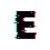 Vector Logo Letter E Glitch Distortion