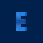 Vector Logo Letter E Small Blocks