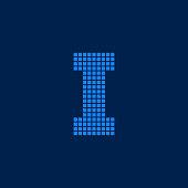 Vector Logo Letter I Small Blocks