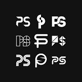 Vector Logo Letter PS
