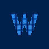 Vector Logo Letter W Small Blocks