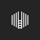 Vector Logo Letter W