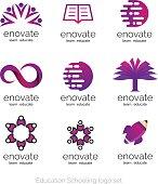 Vector Logo set for education