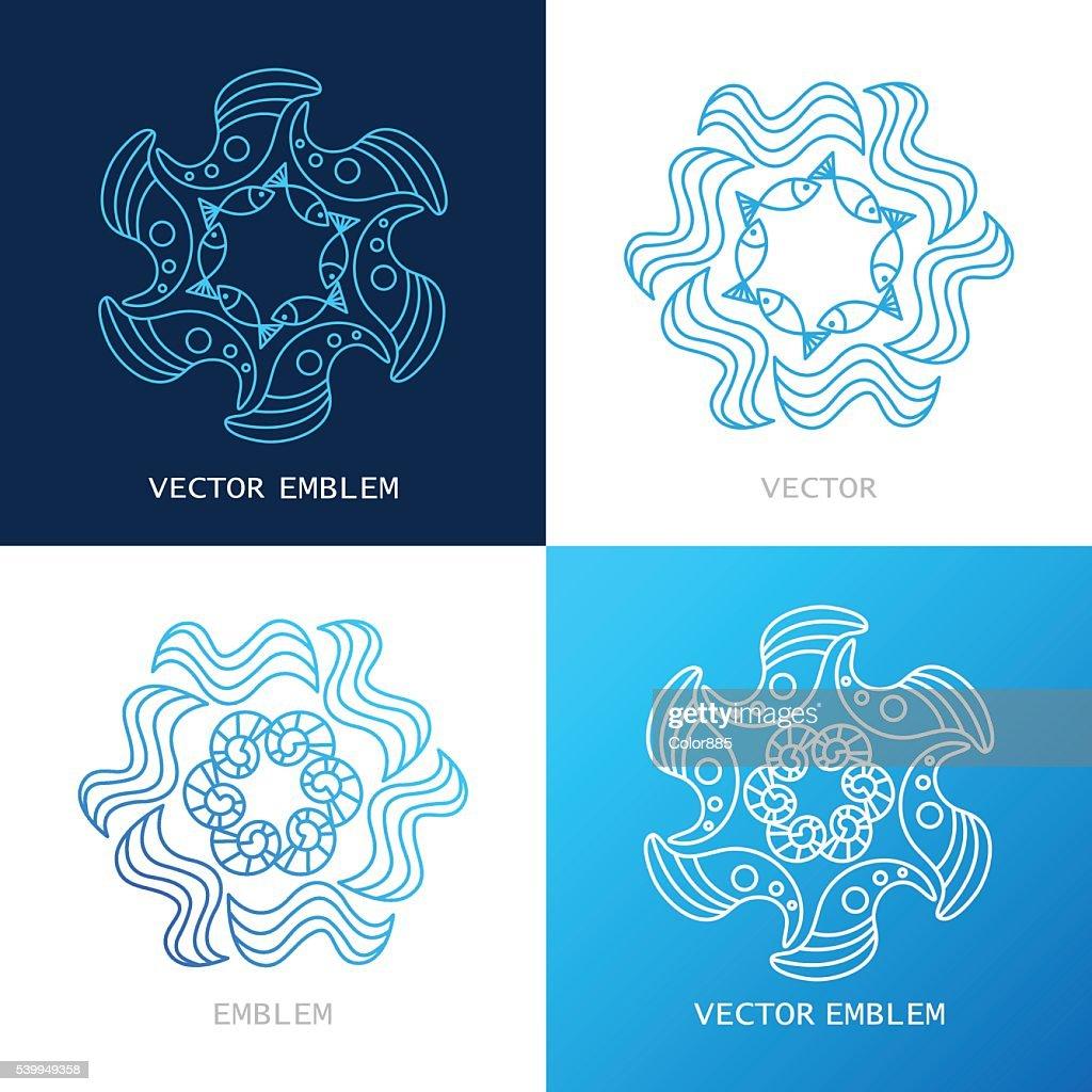 vector logos sea