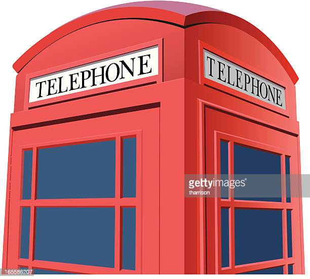 Vector London Phone Booth Closeup