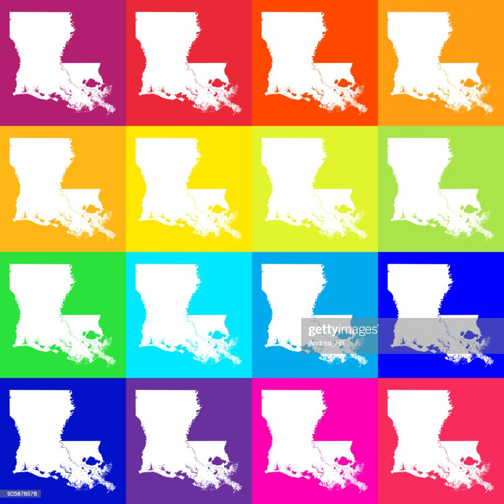Vector Louisiana Usa Map In Bright Colors Vector Art Getty Images