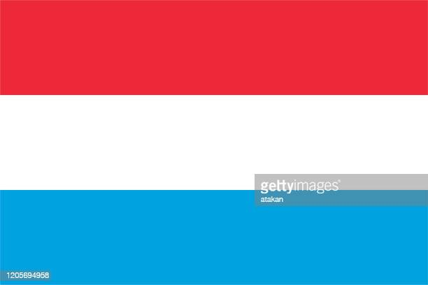 vector luxembourg flag design - luxembourg benelux stock illustrations