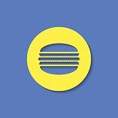 Vector macaroon icon. Food icon. Eps10