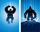 Vector Mad Gorilla Super Villain Silhouette
