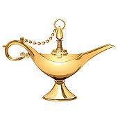 Vector Magic Golden Lamp