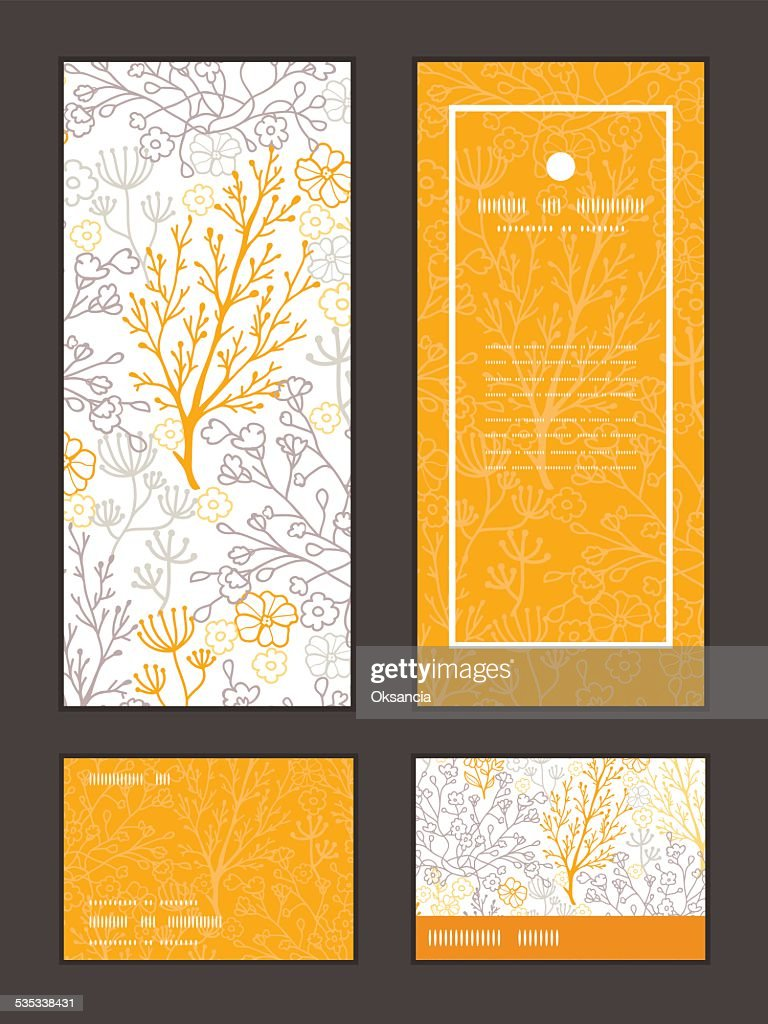 Vector Magical Floral Vertical Frame Pattern Invitation Greeting ...