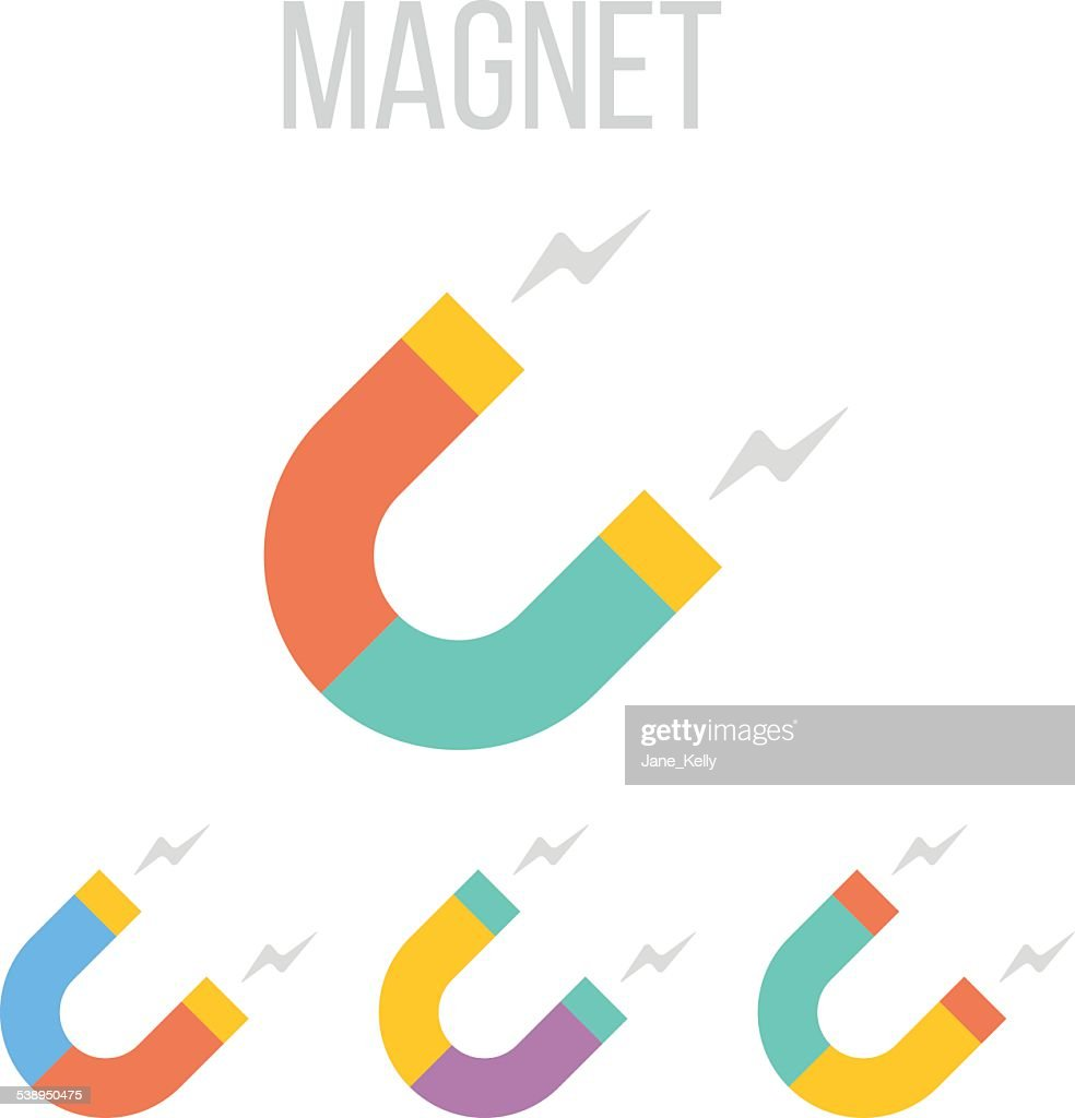 Vector magnet icons