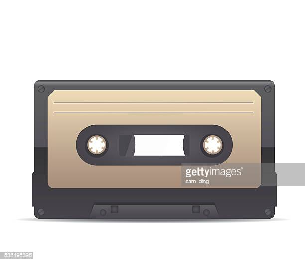 vector magnetic tape - soundtrack stock illustrations, clip art, cartoons, & icons