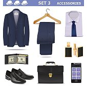 Vector Male Accessories Set 3