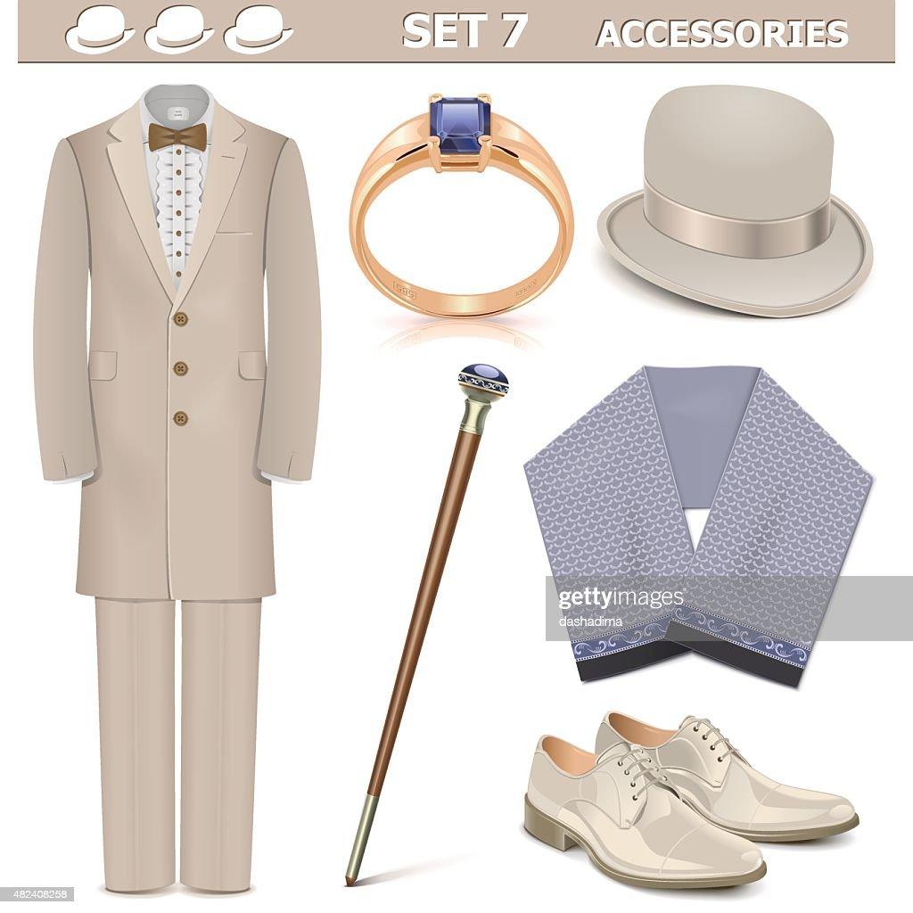 Vector Male Accessories Set 7