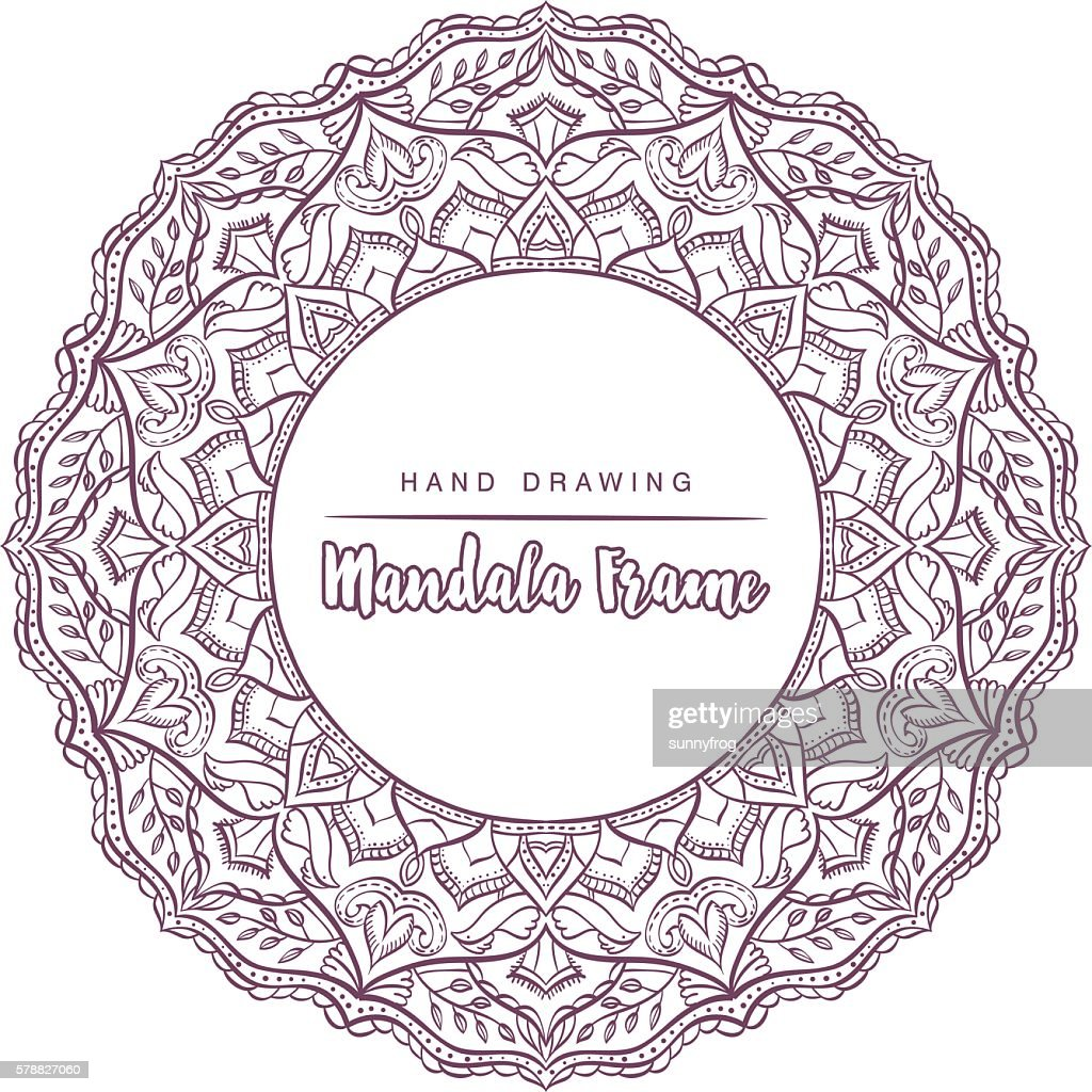 Vector mandala for coloring with floral decorative elements.