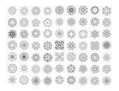 Vector Mandala patterns set. Round ornament pattern