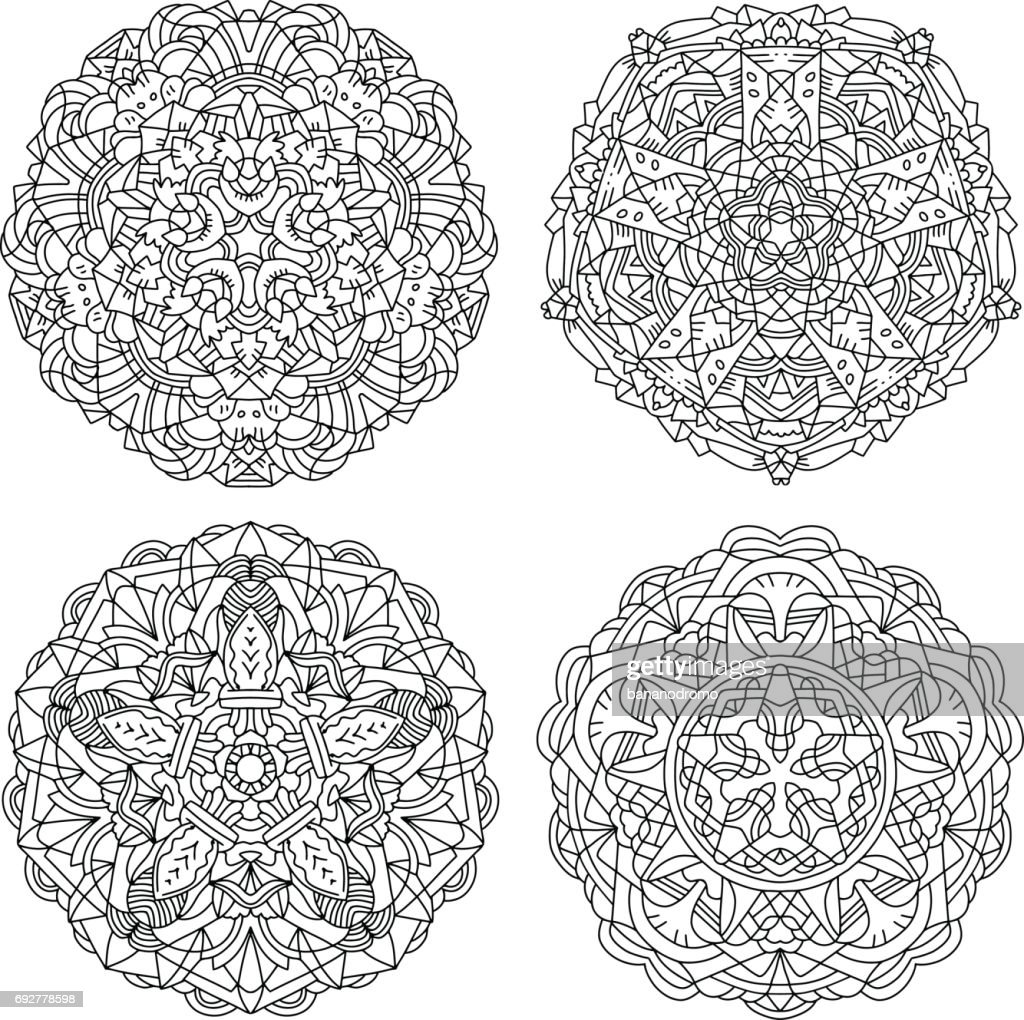 Vector Mandalas Set #2
